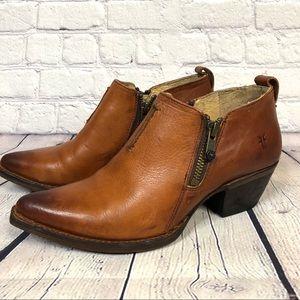 Frye Sacha Moto Cognac Leather Shootie